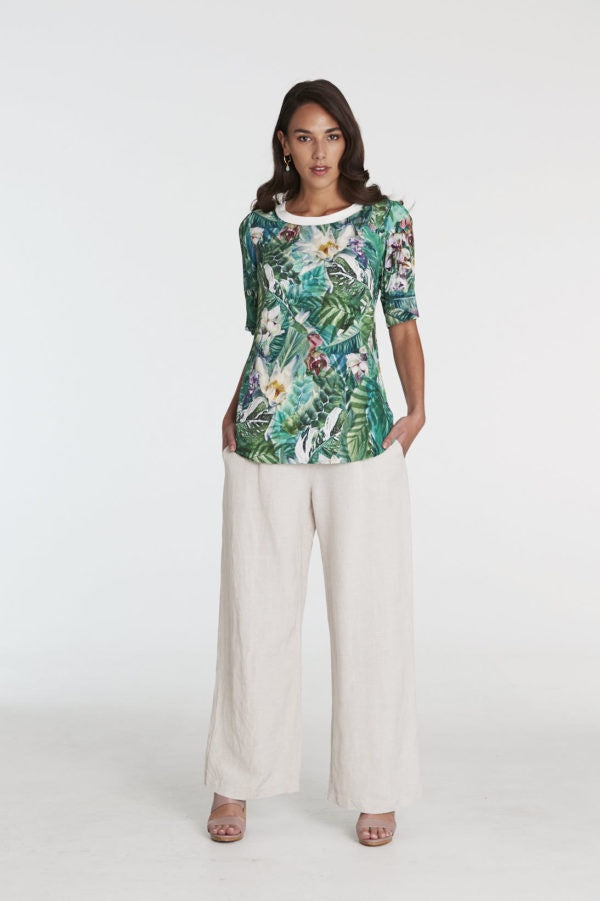 Tussie Mussie Palazzo Pants - Natural Linen