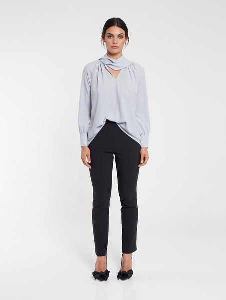 Crystal Tie Top with Slip - Grey