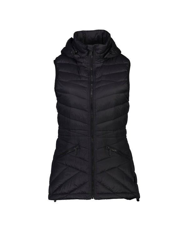 Mary-Claire Packable Down Vest - Black