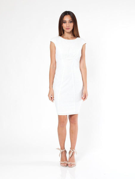 Twilight Cap Sleeve Dress - White