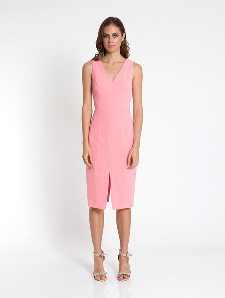 Isabella Fitted Dress - Pink