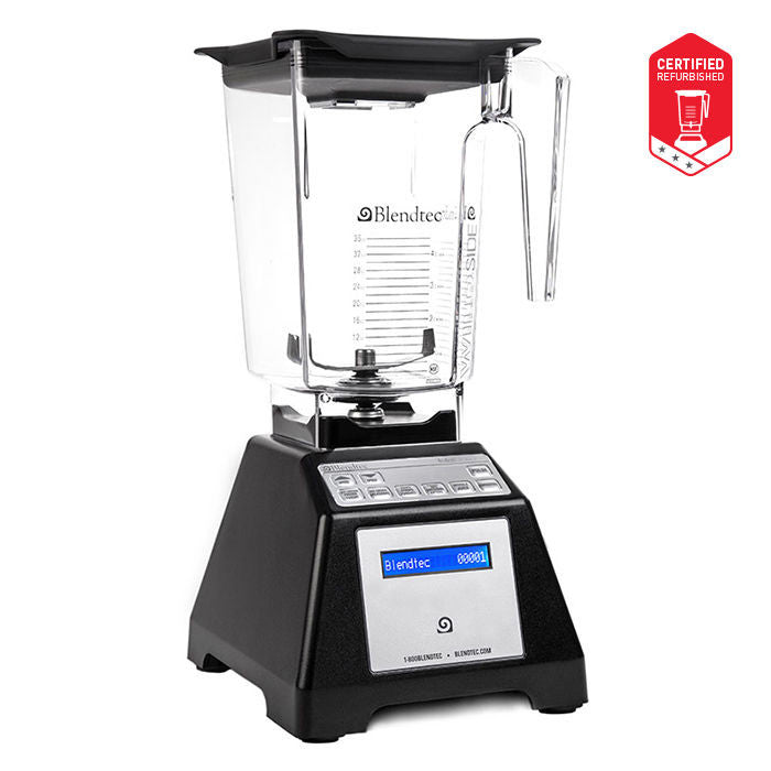 Blendtec Total Blender Refurbished w/ 96oz WildSide+ Jar Warranty Multiple Color