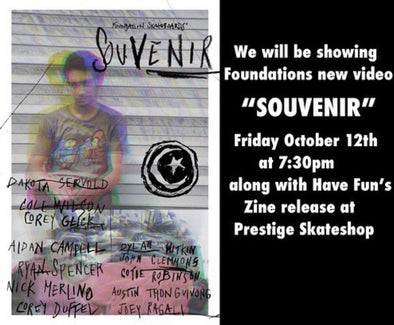 "Foundation's ""Souvenir"" Showing and Have Fun zine release"