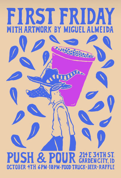 Miguel Almeida's artwork at Push & Pour this FRIDAY!!!