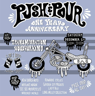 Push & Pour Turns 1!!!