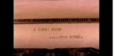 "Stereo's ""A Visual Sound"" (1994)"