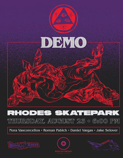 WELCOME DEMO August 23rd 6pm Rhodes Skatepark