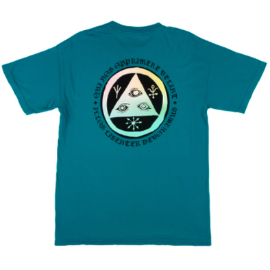 Welcome LATIN TALI 2 GARMENT-DYED TOPAZ/PRISM TEE