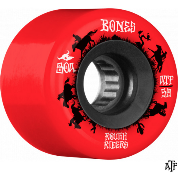 Bones Roughrider Wrangler Red 80a Soft Wheel