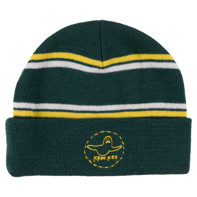 Krooked Trinity green/yellow/white Beanie