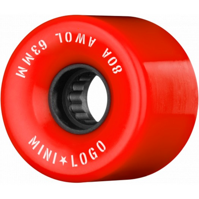 Mini Logo A.W.O.L Red 55mm 80a Cruiser Wheels
