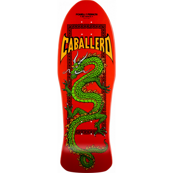 Powell Peralta Caballero Chinese Dragon Red Re-Issue 10.0 Deck