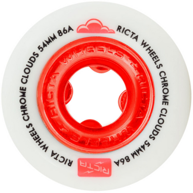 Ricta Chrome Clouds Red 54mm Cruiser Wheel