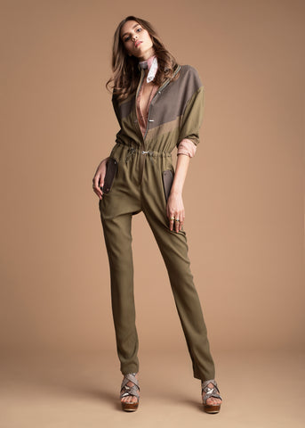 olive jackie flight suit