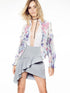 Rose Printed Jacquard Jacket