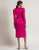 fuchsia wrap dress