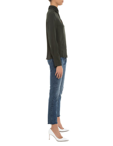 Campbell Draped Blouse Olive
