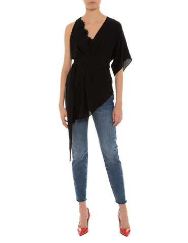 Berge Silk Wrap Top
