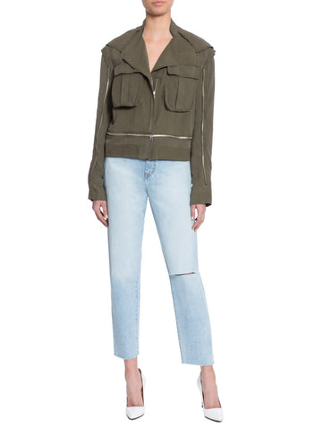Christy Silk Cargo Jacket