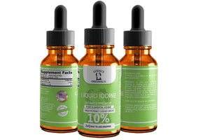 10% Liquid Iodine Drops Thyroid Support Supplement 2oz - Lugols Originals