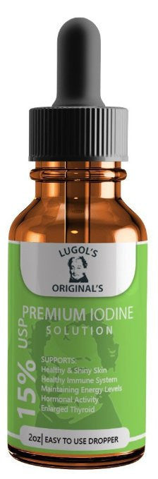 15% Lugols Iodine Solution Drops Thyroid Supplement 2oz-Lugols Solution-Lugol's Originals-1 Pack-Lugols Originals