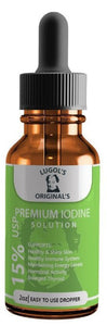 15% Lugols Iodine Solution Drops Thyroid Supplement 2oz - Lugols Originals