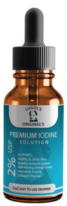 2% Lugols Iodine Solution Drops Thyroid Support Supplement 2oz - Lugols Originals