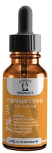 7% Lugols Iodine Solution Drops Thyroid Support Supplement 2oz - Lugols Originals