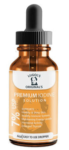 7% Lugols Iodine Solution Drops Thyroid Support Supplement 4 oz - Lugols Originals