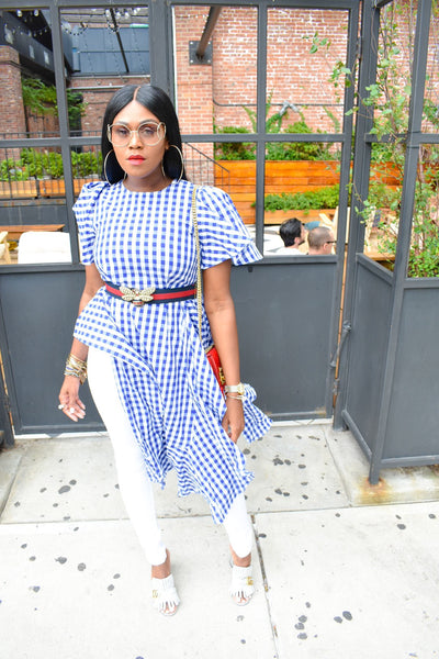 PICNIC PLAID SHIRT/DRESS (BLUE)