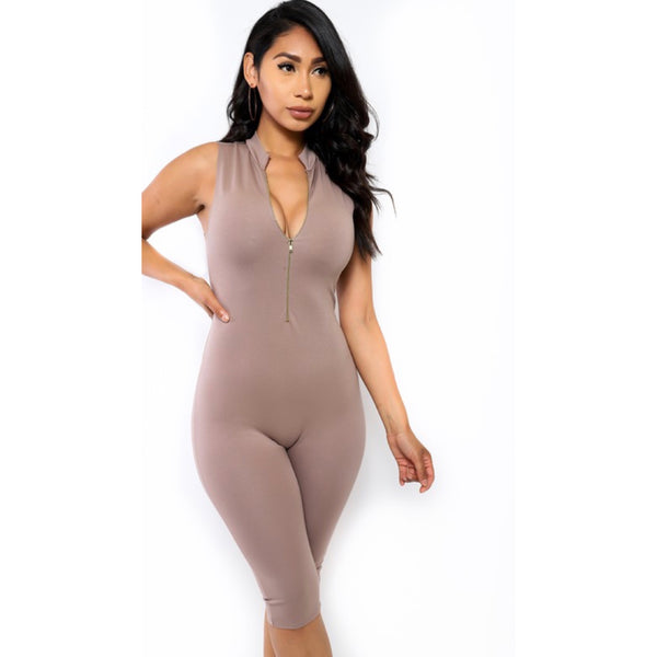 None Of Your Concern Jumpsuit (Nude)
