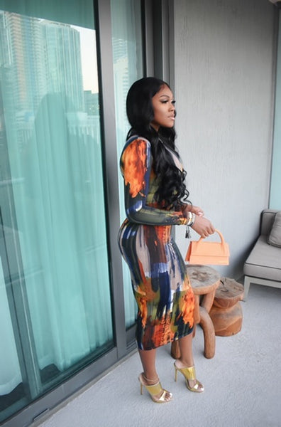 Fire & Ice Midi Dress