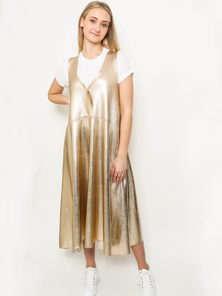 Extra Extra Dress - Gold