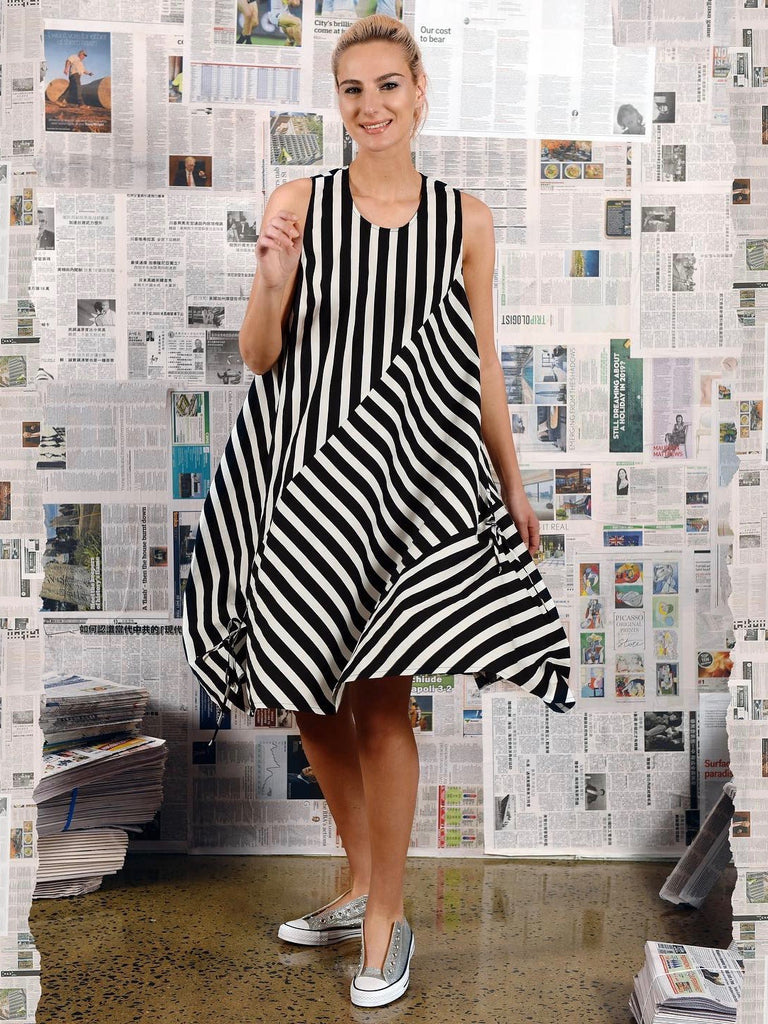 Pictorial Dress - Stripe