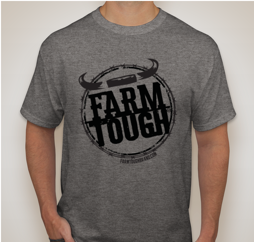 #FarmTough - Horns & Barbed Wire - Screen Printed T Shirt