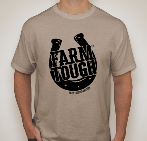 #FarmTough - Horse Shoe - Screen Printed T Shirt