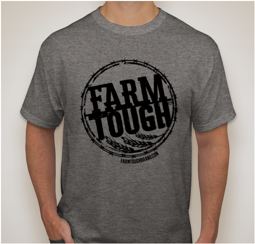 #FarmTough - Wheat & Barbed Wire - Screen Printed T Shirt