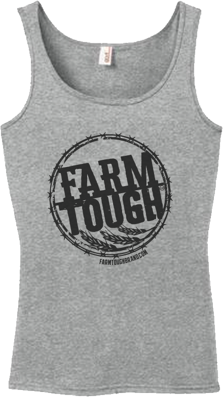 #FarmTough - Wheat & Barbed Wire - Women's Tank