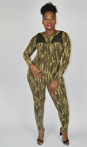 Black & Gold glitter jumpsuit