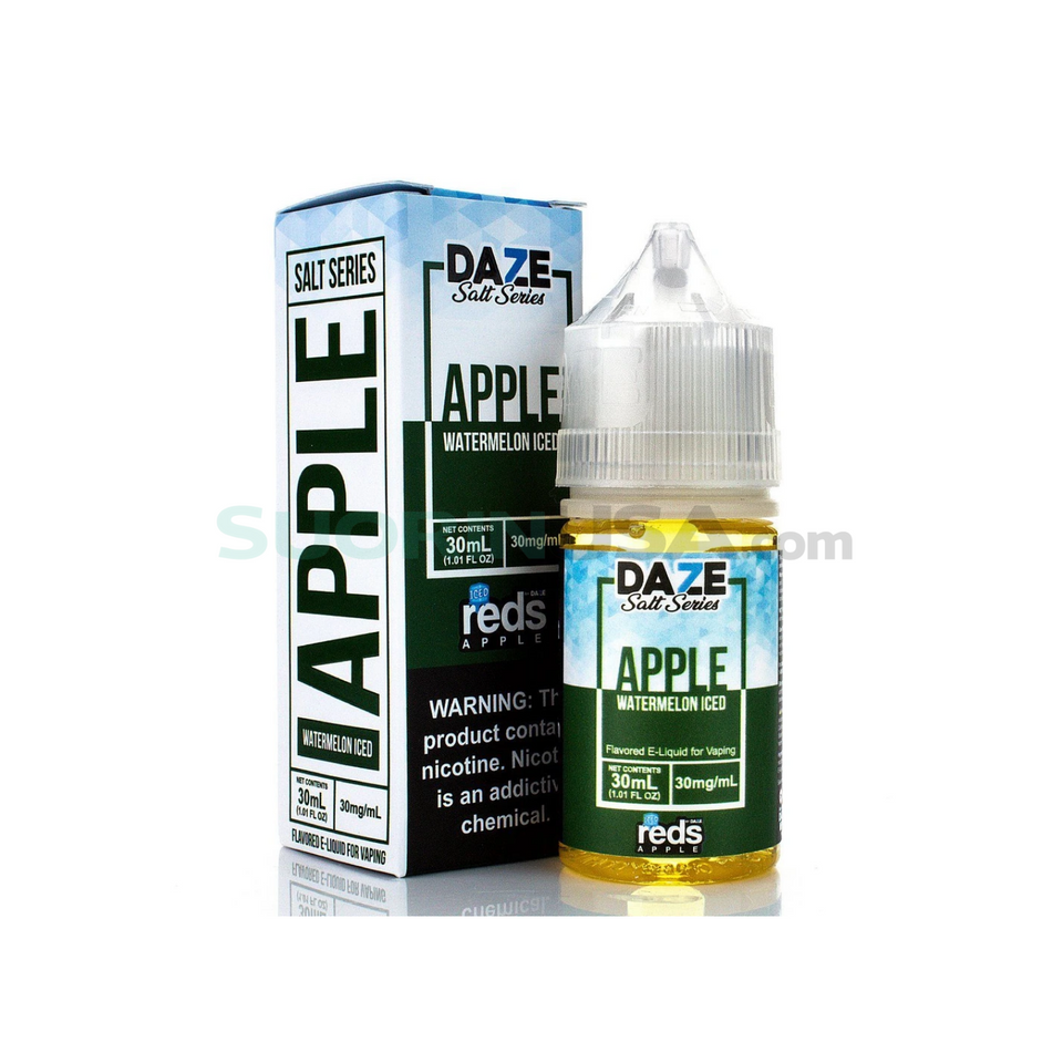 7 Daze Reds | WATERMELON ICED - Nic Salt eJuice (30mL)