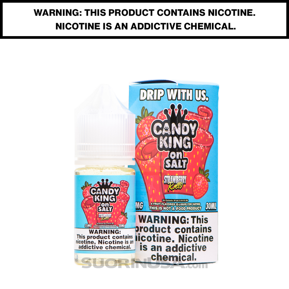 Strawberry Fruit Roll Ups- Candy King E-Juice by DripMore - Salt Nic