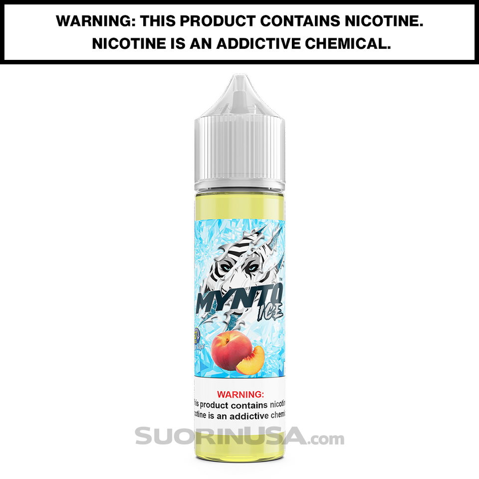 Mynto Ice Peach E-Juice by DripFire - 60mL