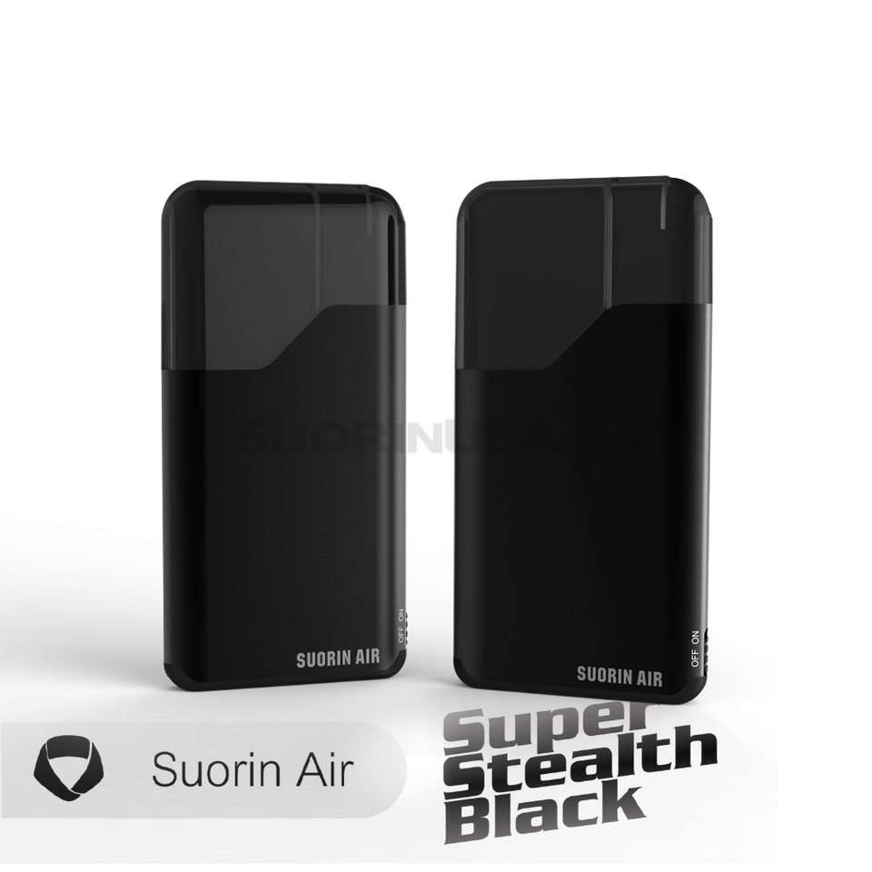 Suorin Air Super Stealth Black- Pod System Device with Cartridge Kit