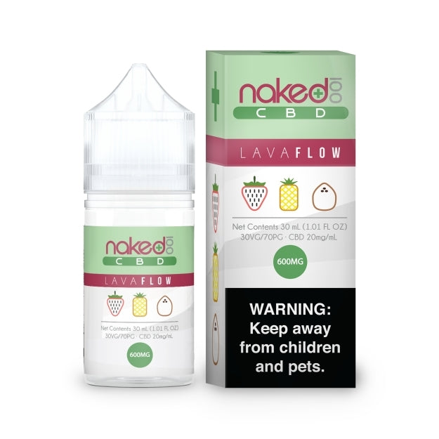 Naked 100 CBD eLiquid - 600mg - Lava Flow
