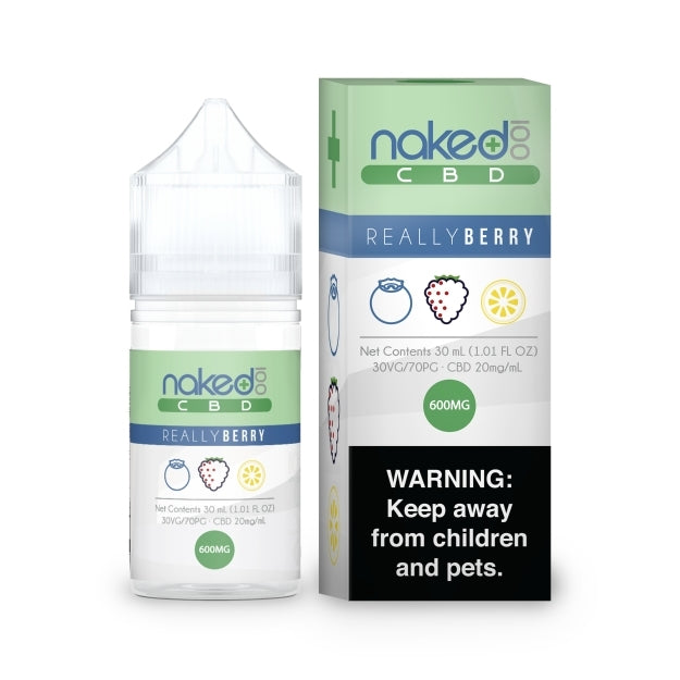 Naked 100 CBD eLiquid - 600mg - Really Berry