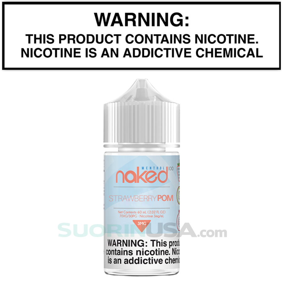 Naked 100 Fusion STRAWBERRY POM 60mL eJuice Standard