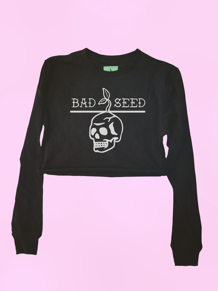 Bad Seed Crop Top Raglan - Clarafornia