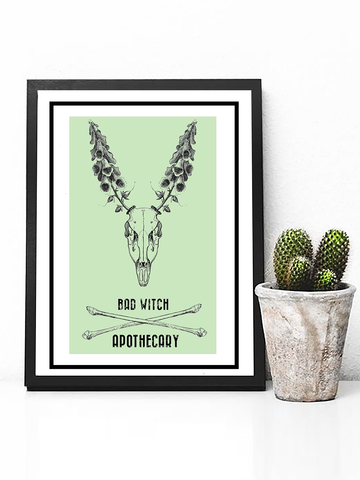 Bad Witch Apothecary Poster - Witch Poster - Witch Decor - Retro Witch Poster - Retro Farmhouse Decor - Boho Poster - Boho Decor - Bohemian Wall Art - Bohemian Poster Print - Pastel Goth Witch Poster - Tumblr Art - Tumblr Aesthetic - Dorm Decor - Living Room Decor - Bohemian Bedroom Decor - Bohemian Floral Poster