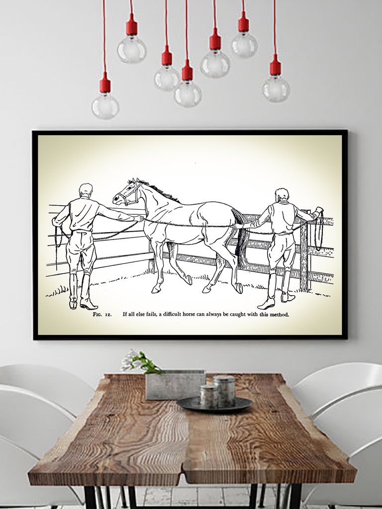 Poster Print - Boho Wall Art - Boho Decor - Bohemian Decor - Art Print - Hippie Wall Art - Hippie Poster - Boho Wall Art - Vintage Horse Illustration - Horse Poster - Horse Wall Art - Equestrian Gifts - Equestrian Decor - Equestrian Wall Art - Horse Lover Gifts - Funny Horse Poster - Funny Horse Signs - Funny Horse Pictures