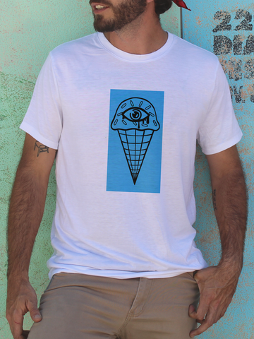 Mens Eyes Cream T Shirt | Trippy Ice Cream Shirt - Clarafornia